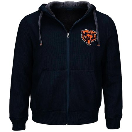 Chicago Bears Thermal Hooded Jacket - Bull And Bear Chicago Halloween