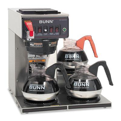 Bunn Cwtf 3 Three Burner Automatic Coffee Brewer
