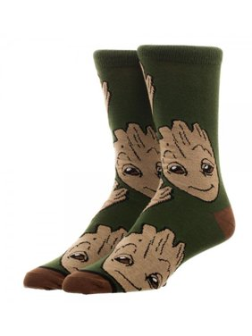 Guardians of The Galaxy Groot Large All Over Print Crew Cut Socks
