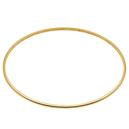 Antique Gold Bangles - Antiqued 24kt Gold Plated Thin Bangle Bracelet - 2 3/4 Inch (1)