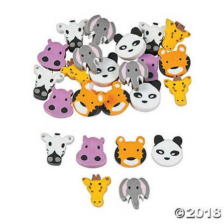 Mini Zoo Animals Erasers