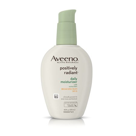 Aveeno Positively Radiant Daily Moisturizer With Sunscreen Broad Spectrum Spf 15, 4 (Best Face Cream With Spf)