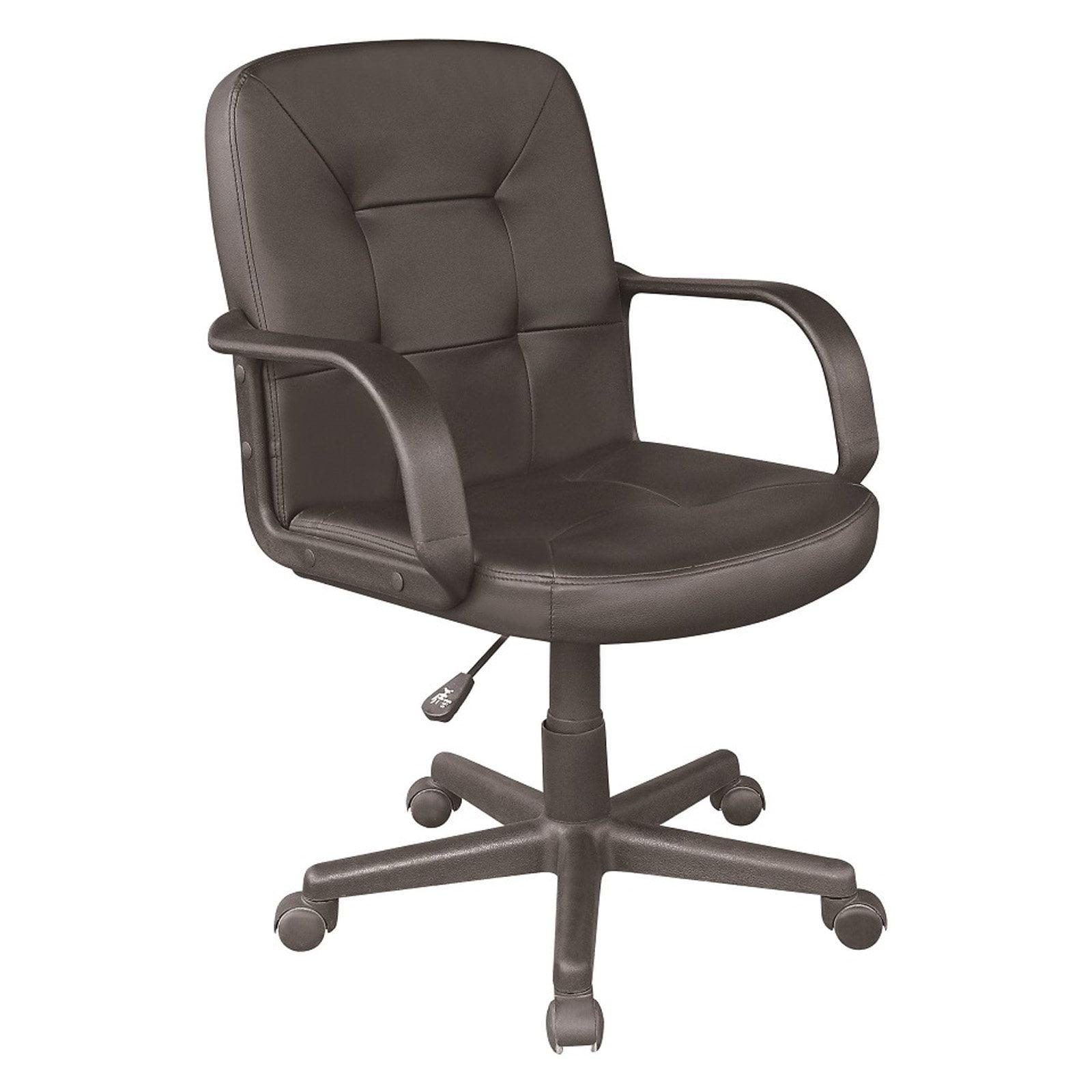 PU Mid-Back Chair, Black