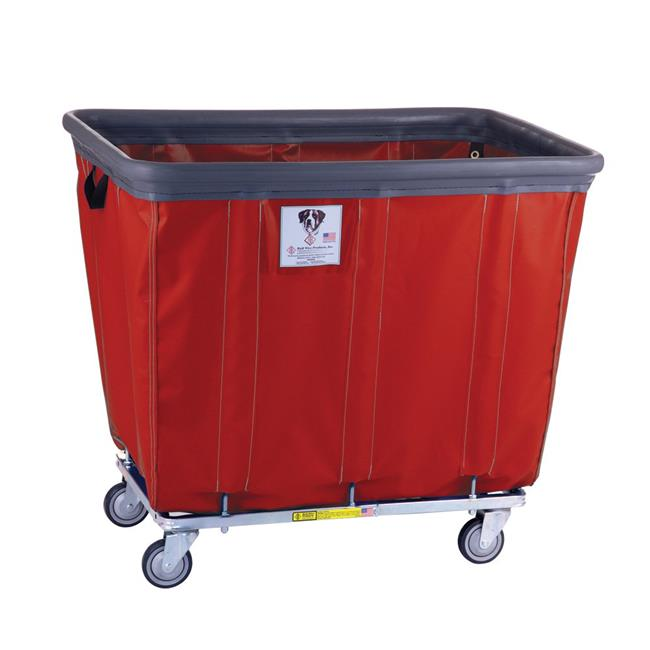 R&B Wire Products 414SOBC-RD 14 Bushel Vinyl Bumper Truck All Swivel Casters, Red - 43 x 31.75 x 37.5 in.
