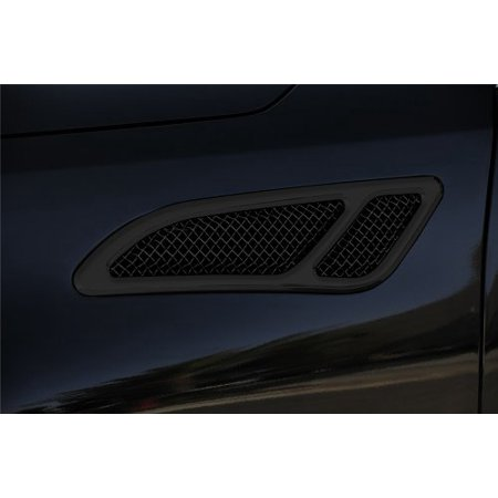 T-Rex Grilles 51794 Upper Class Small Formed Mesh Steel Black Finish Replacement Side Vent for Infiniti