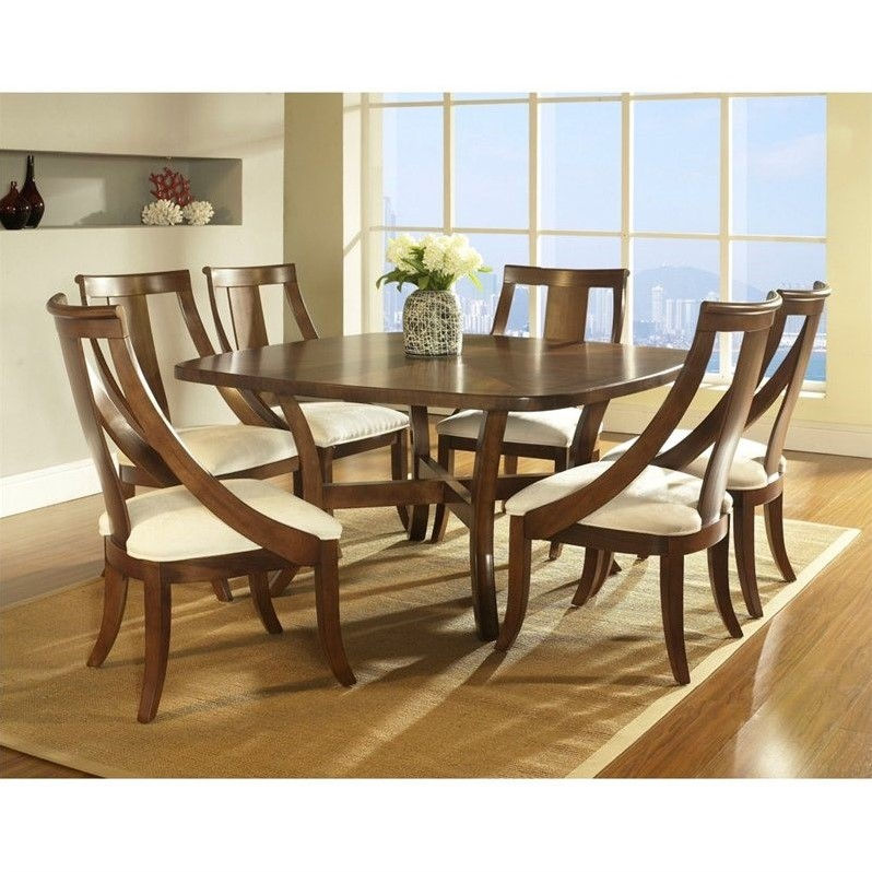 Somerton Gatsby Square Dining Table in Medium Brown Walnut