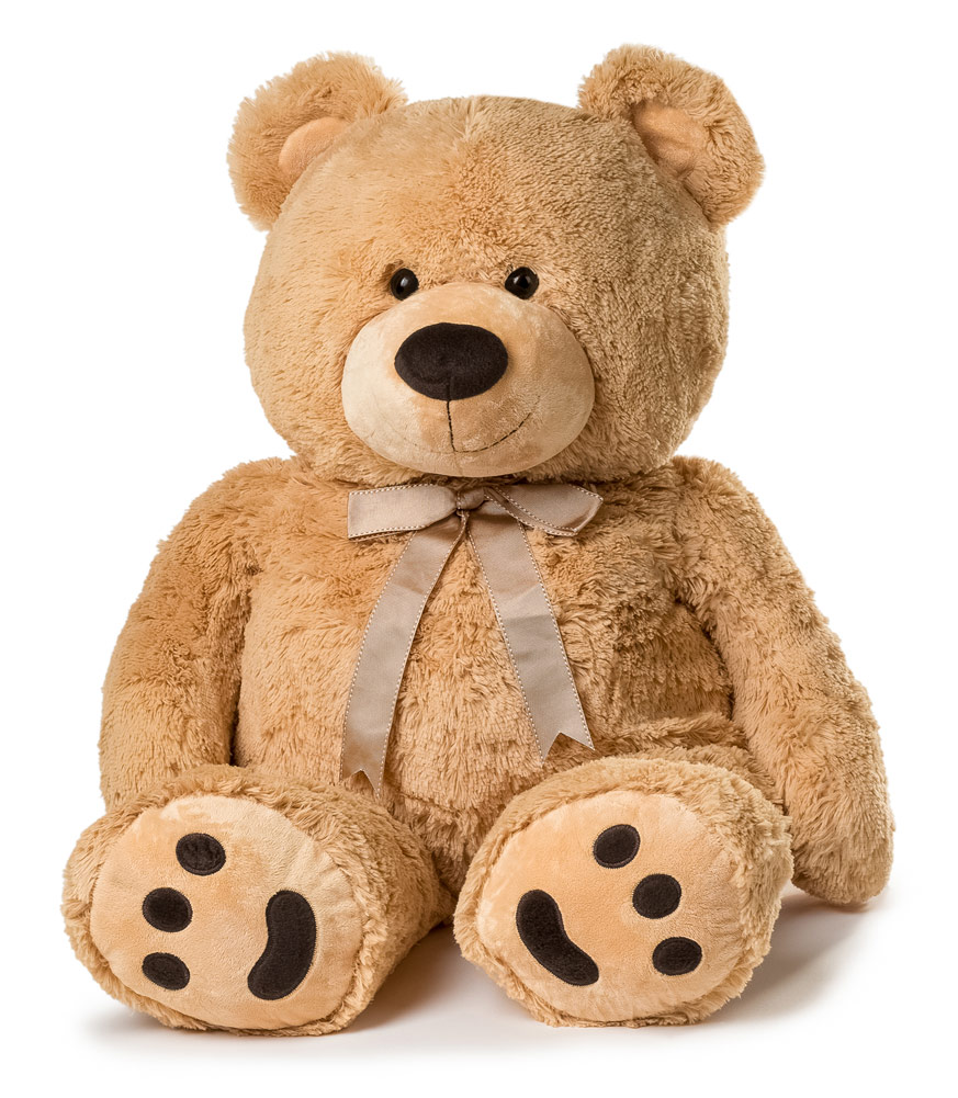 JOON Huge Teddy Bear With Ribbon, Tan by Joon