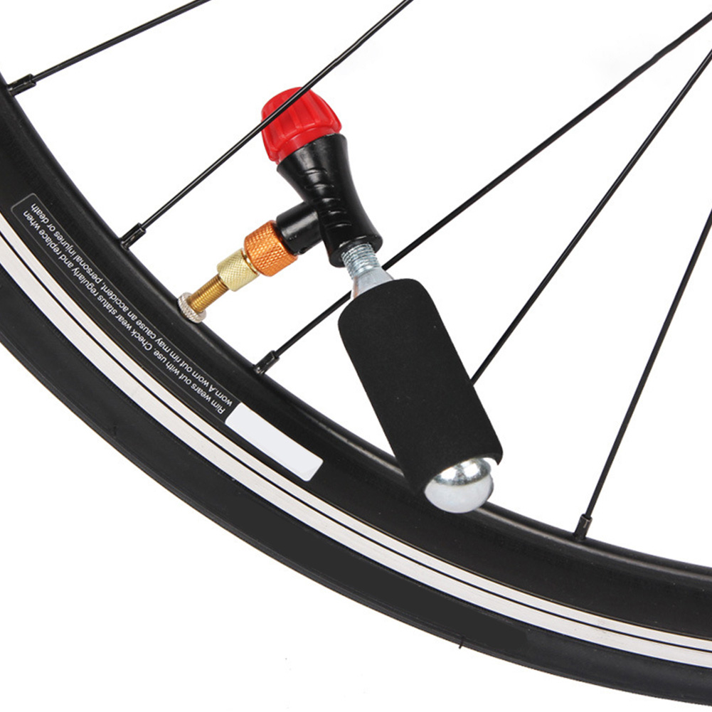 54mm Aluminum Alloy Bicycle CO2 Tire Inflator Head For Presta Schrader Valve New