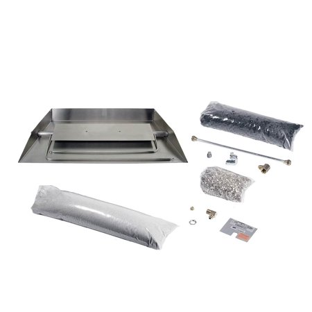 Rasmussen Stainless Steel Custom Embers Pan Vented Fireplace Burner Kit, Propane, 24""