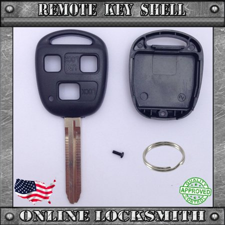 New Remote Key Shell Replacement Case For Toyota FJ Cruiser Land Cruiser Key Fob - Land Cruiser Key