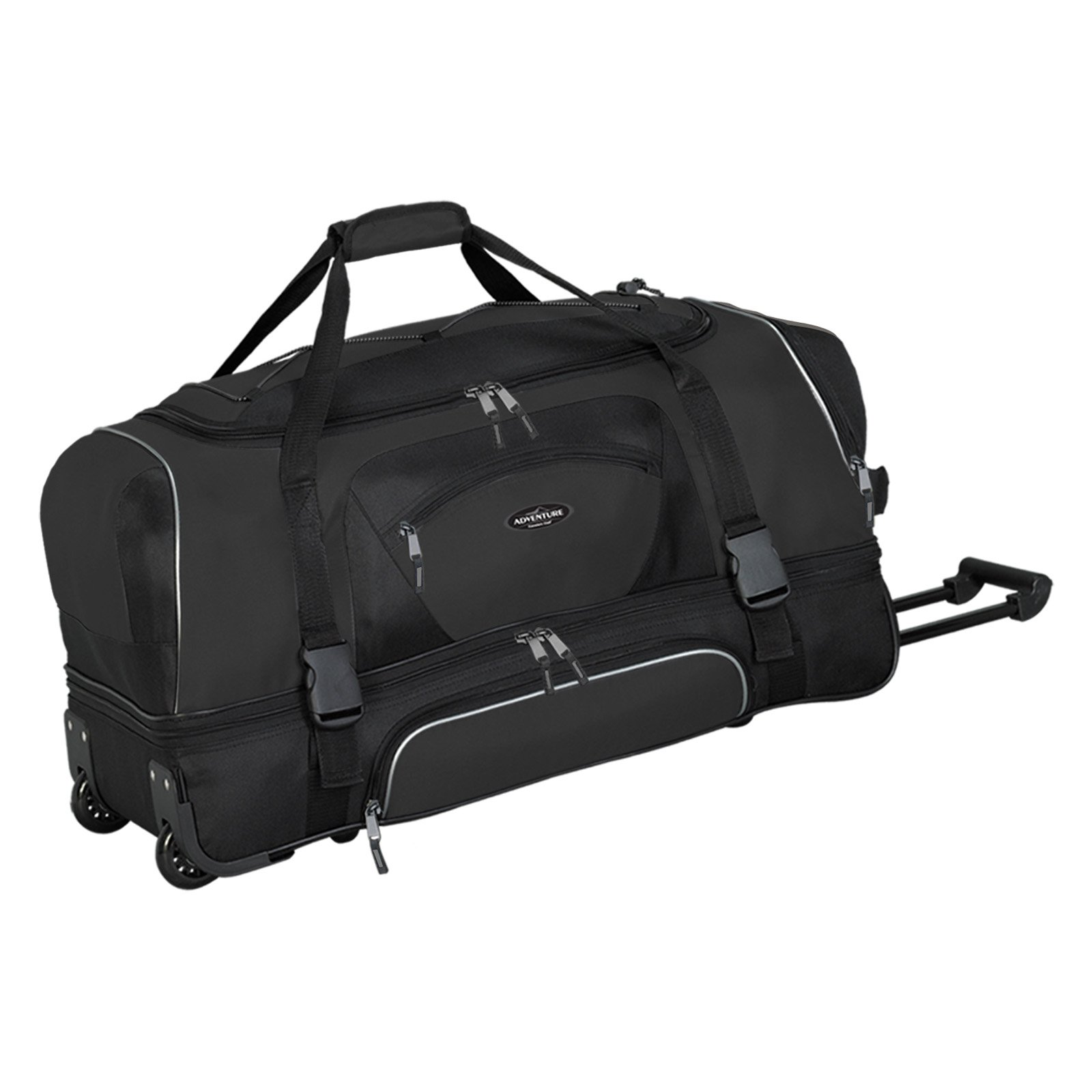 """Travelers Club 30"""" Drop-Bottom Rolling Duffel with Telescopic Handle by Travelers Club Luggage"""