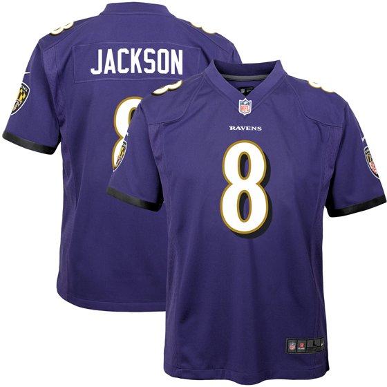 finest selection 4ae90 f8ac8 Lamar Jackson Baltimore Ravens Nike Youth Game Jersey - Purple - Walmart.com