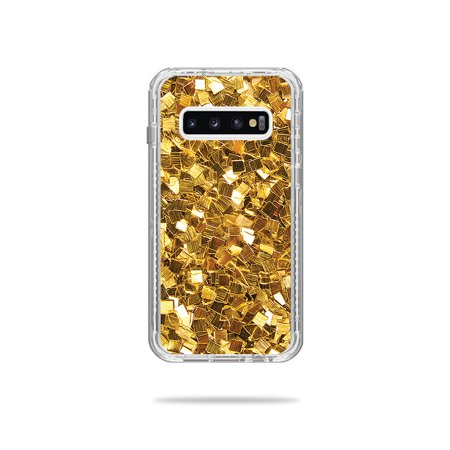 Skin For Lifeproof Next Case Samsung Galaxy S10 - Gold Chips   MightySkins Protective, Durable, and Unique Vinyl Decal wrap cover   Easy To Apply, Remove, and Change Styles (Rank Samsung Chips)