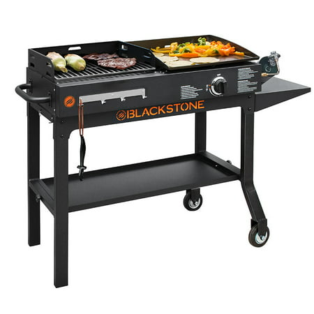 Blackstone Duo Griddle & Charcoal Grill Combo (Gas Charcoal Smoker Grill)