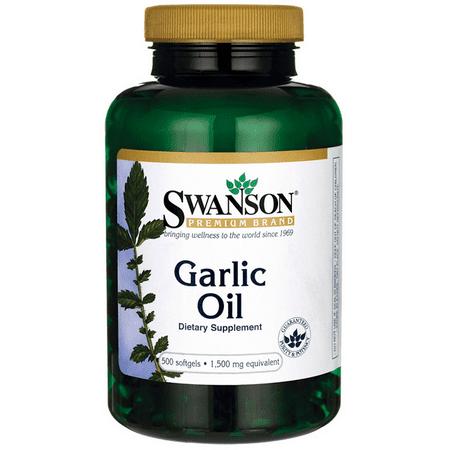 Swanson Garlic Oil 1,500 mg 500 Sgels Garlic Oil Ear Infections