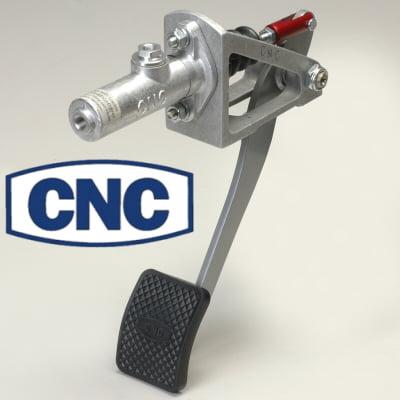 Cnc Red Reverse Swinging Single Brake Pedal Assembly Remote Reservoir 1-1/16 Bore Master Cylinder