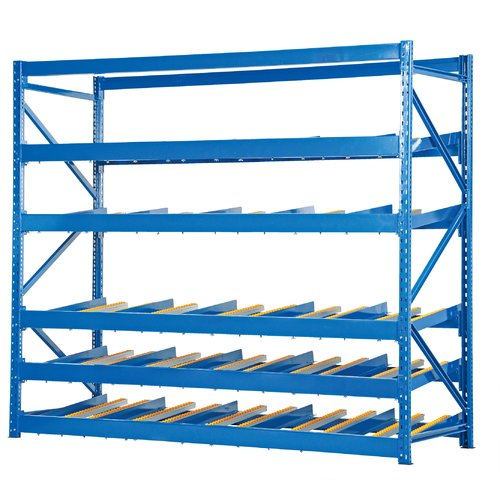 Vestil Carton Rack with Gravity Roll 5 Flow Levels