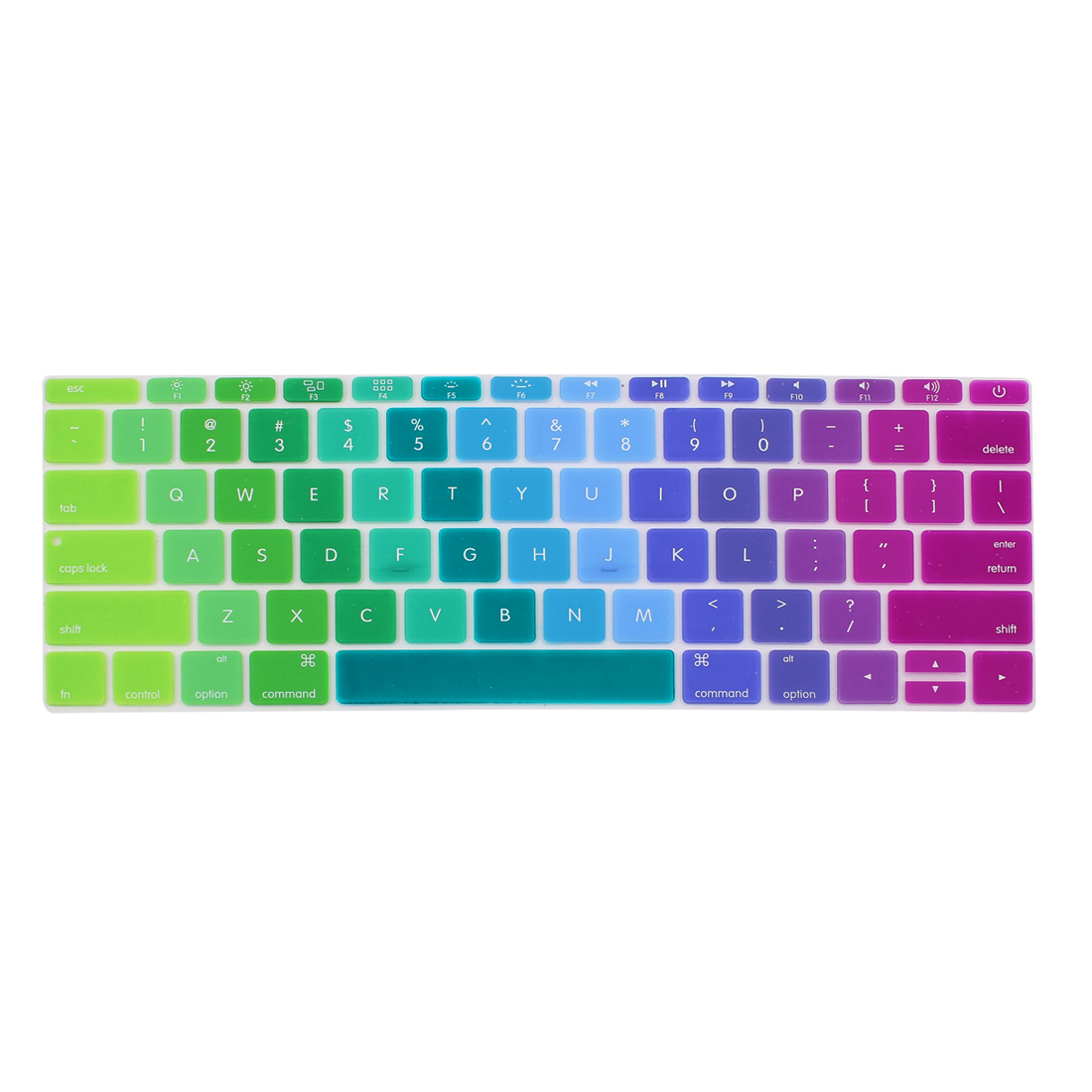 """Unique Bargains Laptop Rubber Protective Shell Keyboard Skin Cover Multicolor for MacBook 12"""""""
