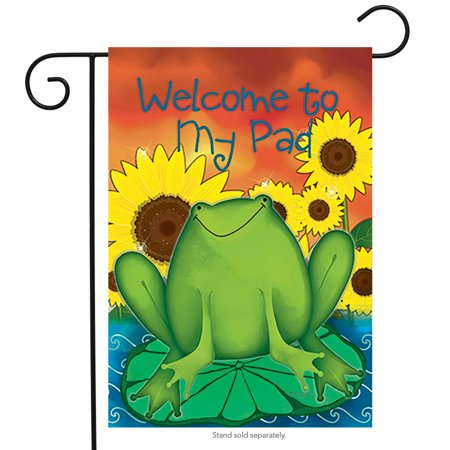 Sunflower Resin - Welcome To My Pad Summer Garden Flag Sunflowers 12.5