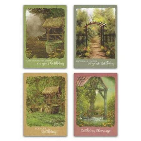 Card-Boxed-Birthday-Wishing Well (KJV)(Box Of 12) (Wishing Well Wedding Card Box)