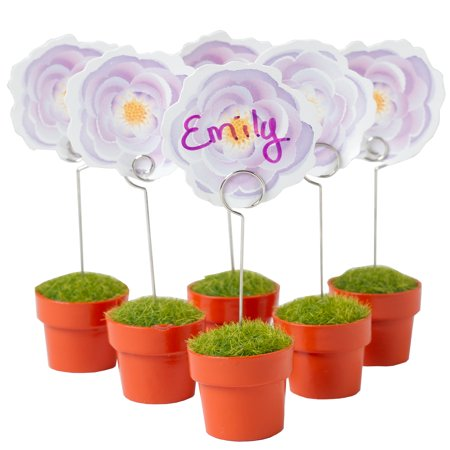 Potted Flower Place Card Holders