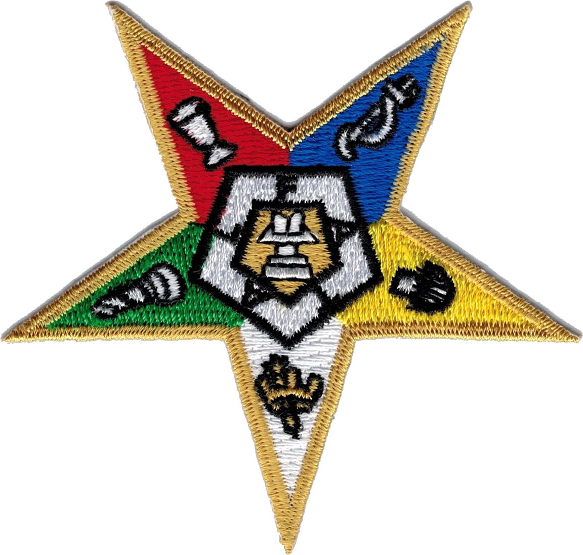 """Eastern Star Symbol Iron-On Patch [Gold - 1.5""""]"""