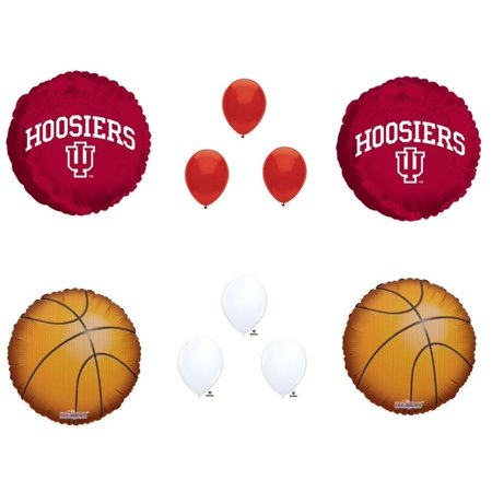 INDIANA HOOSIERS Basketball Game Birthday Party Balloons Decorations Supplies (Basketball Supplies)