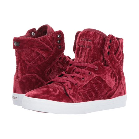 Supra Skytop Woman Shoes (SUPRA Skytop Kids | Dark Ruby / White (58062-643-M) )