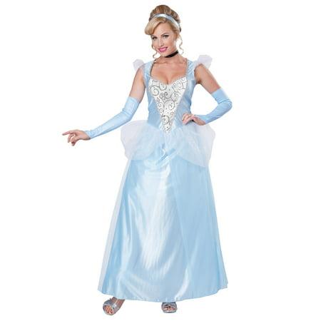 Womens Classic Cinderella Halloween Costume