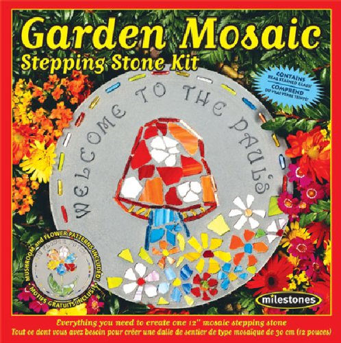 Midwest Products Garden Mosaic Stepping Stone Kit, Fast shipping,Brand Weston by