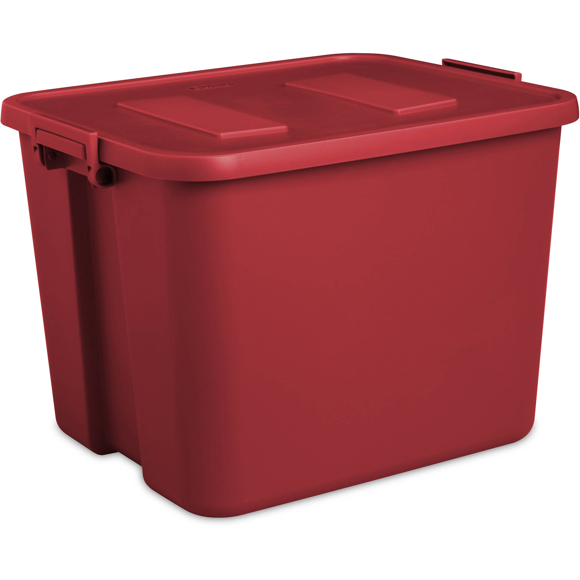 Sterilite 20-Gallon Latch Tote, Infra Red (Available in Case of 6 or Single Unit)