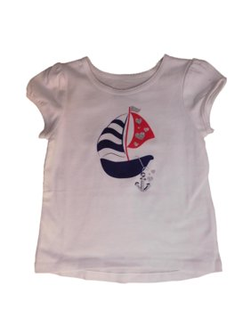 ae129f46a Product Image Jumping Beans Infant Girls White Patriotic Sailboat T-Shirt  Tee Shirt