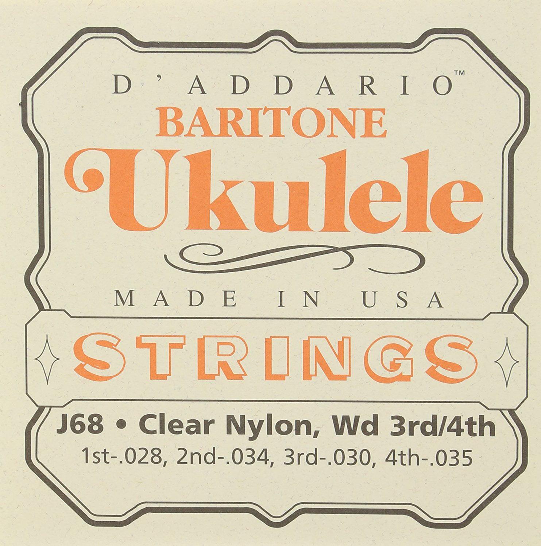 J68 Ukulele Strings, Baritone, Optimized for Baritone Ukuleles tuned to standard DGBE... by