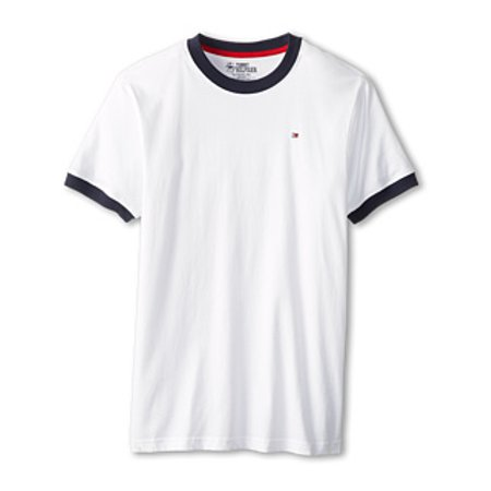 tommy hilfiger big boys' core crew neck ken tee, classic white, x-large (20)
