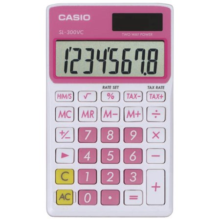 SL-300VC Standard Function Calculator, Pink, Scientific Standard Black FX300ES Orange Essential With Case Function Accessory Calculator by Watch Plus SL300VC.., By Casio