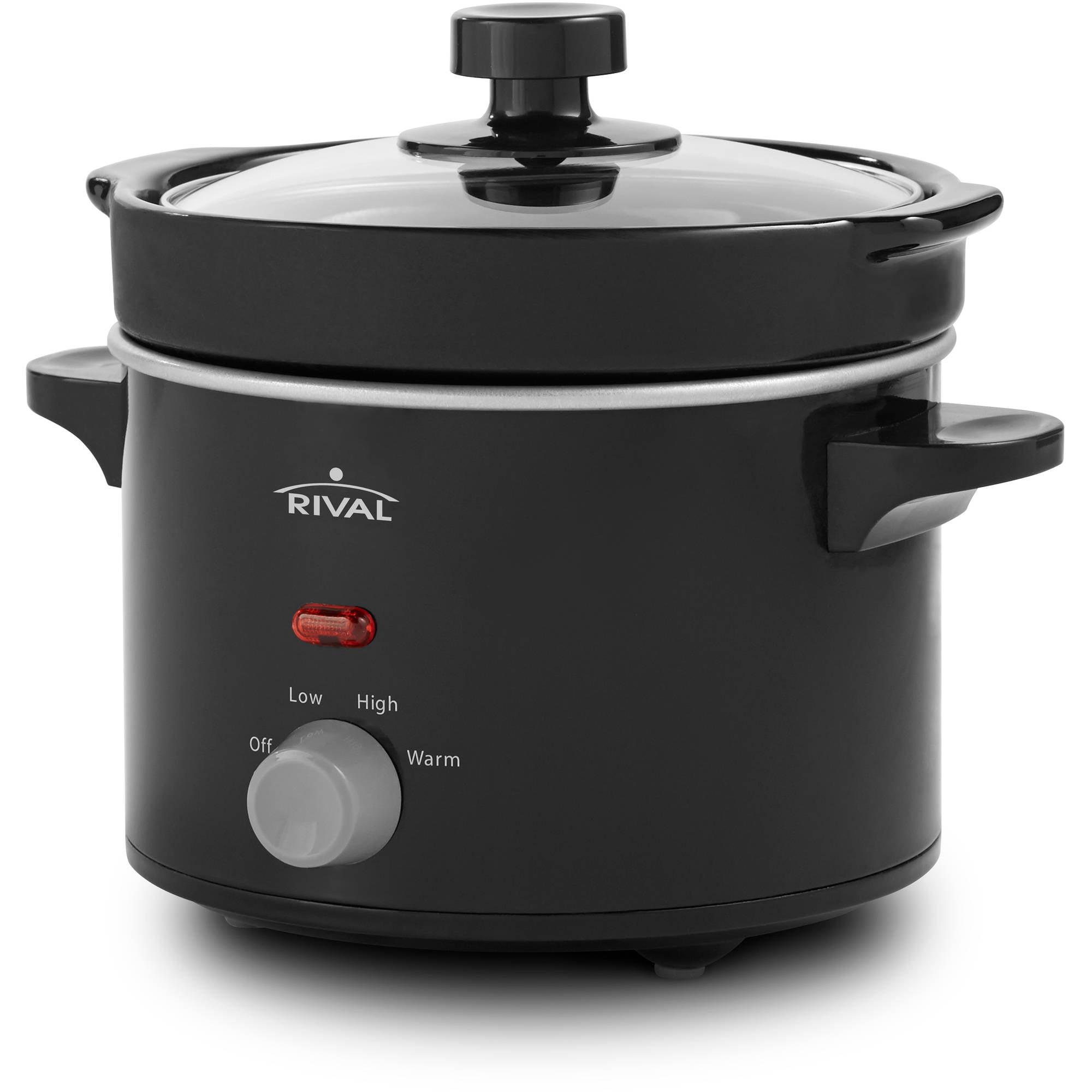 Delightful Rival Kitchen Appliances Part - 5: Rival 2-Quart Slow Cooker, Black - Walmart.com
