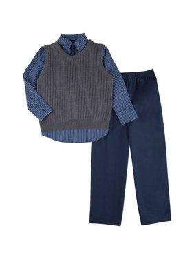 Boys Drop Needle Sweater Set