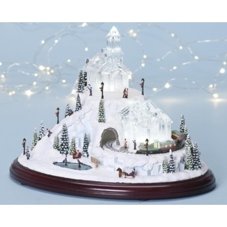 amusements led lighted animated musical christmas village decoration - Animated Christmas Village