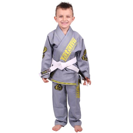 Tatami Fightwear Meerkatsu Kids Animal BJJ Gi - Gray