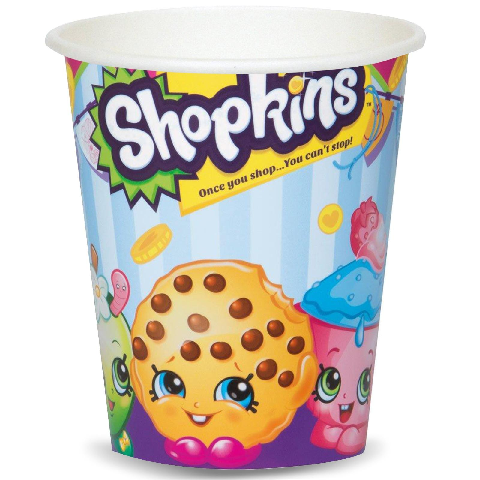 9oz Paper Shopkins Cups, 8ct