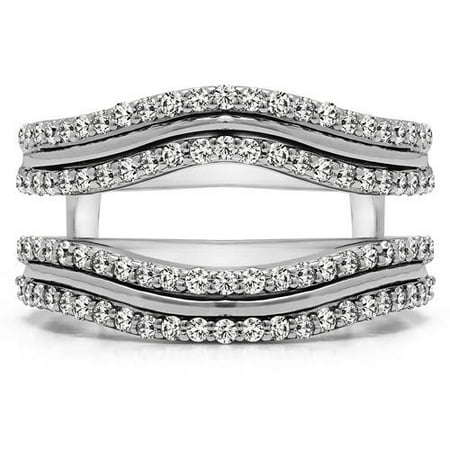 Personalized Double-Row Wedding Ring Guard Enhancer](Personalized Wedding Rings)