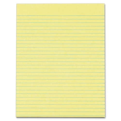 TOPS BUSINESS FORMS                                Glue Top Pad, Wide Ruled, 8-1/2''x11'', Canary