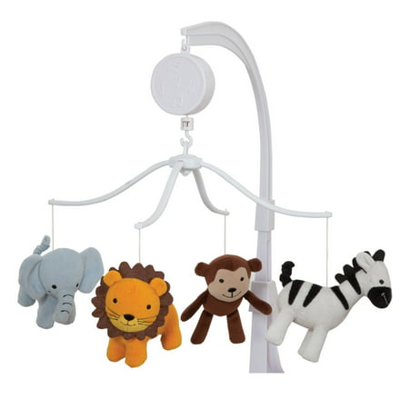 Bedtime Originals by Lambs & Ivy Jungle Buddies Musical Mobile, Brown (Rainforest Mobile)