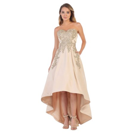 75fd907da9 Formal Dress Shops Inc - HIGH LOW WEDDING RECEPTION DRESS - Walmart.com