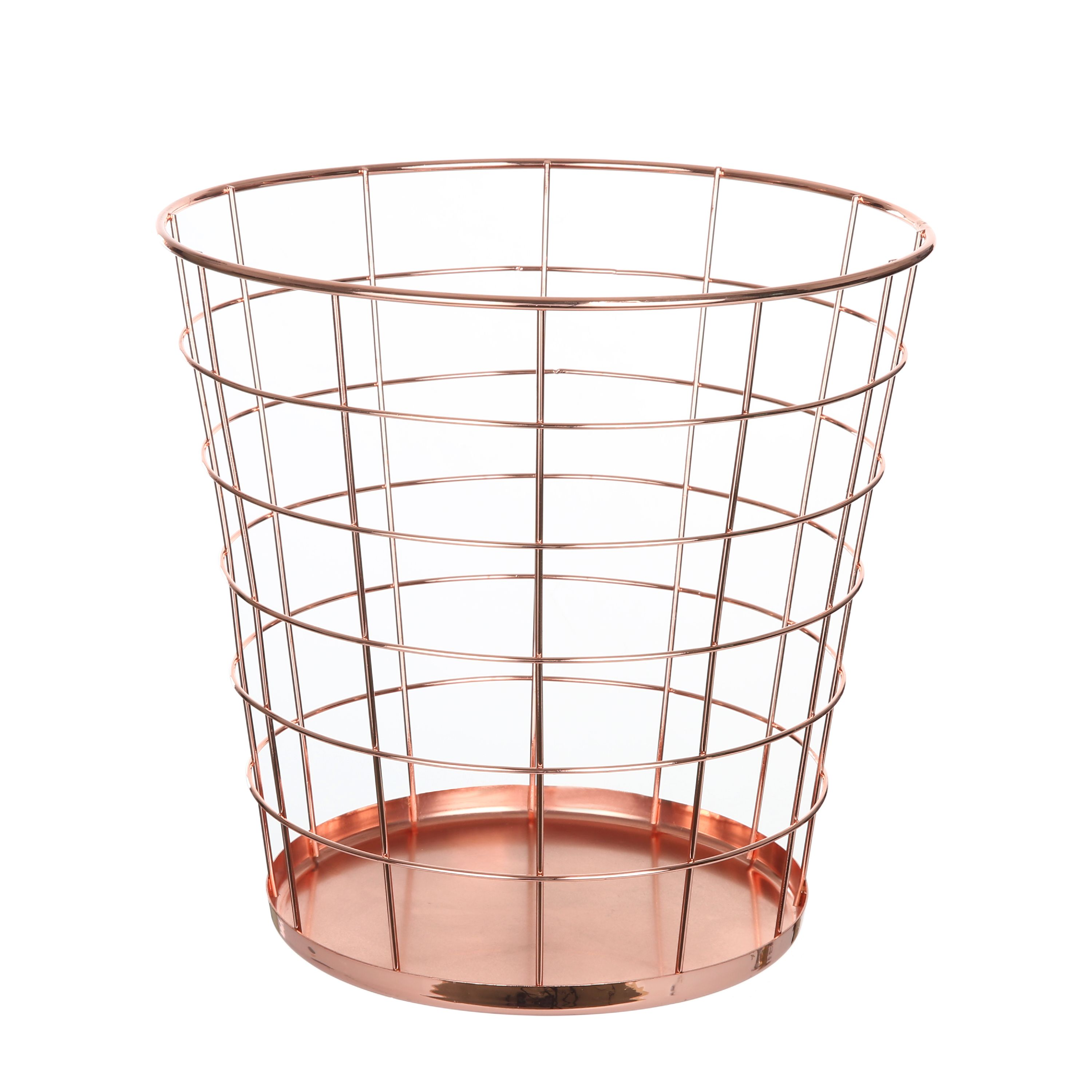 Mainstays Rose Gold 3 Gallon Wire Waste Basket