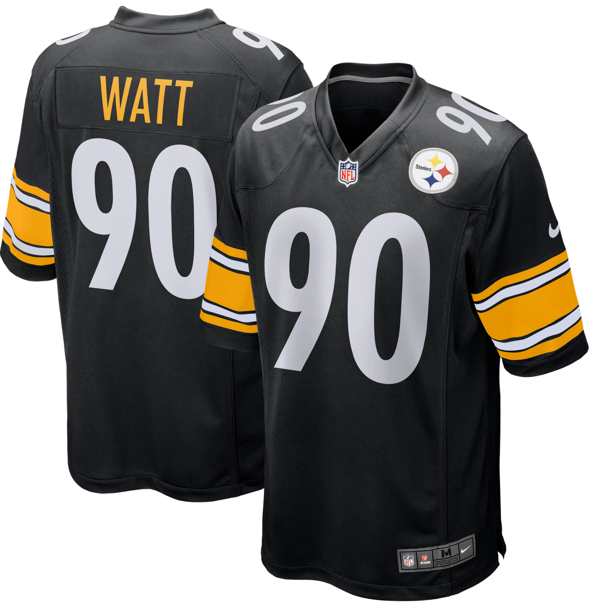 8f87cbcf9 T.J. Watt Pittsburgh Steelers Nike Game Jersey - Black - Walmart.com