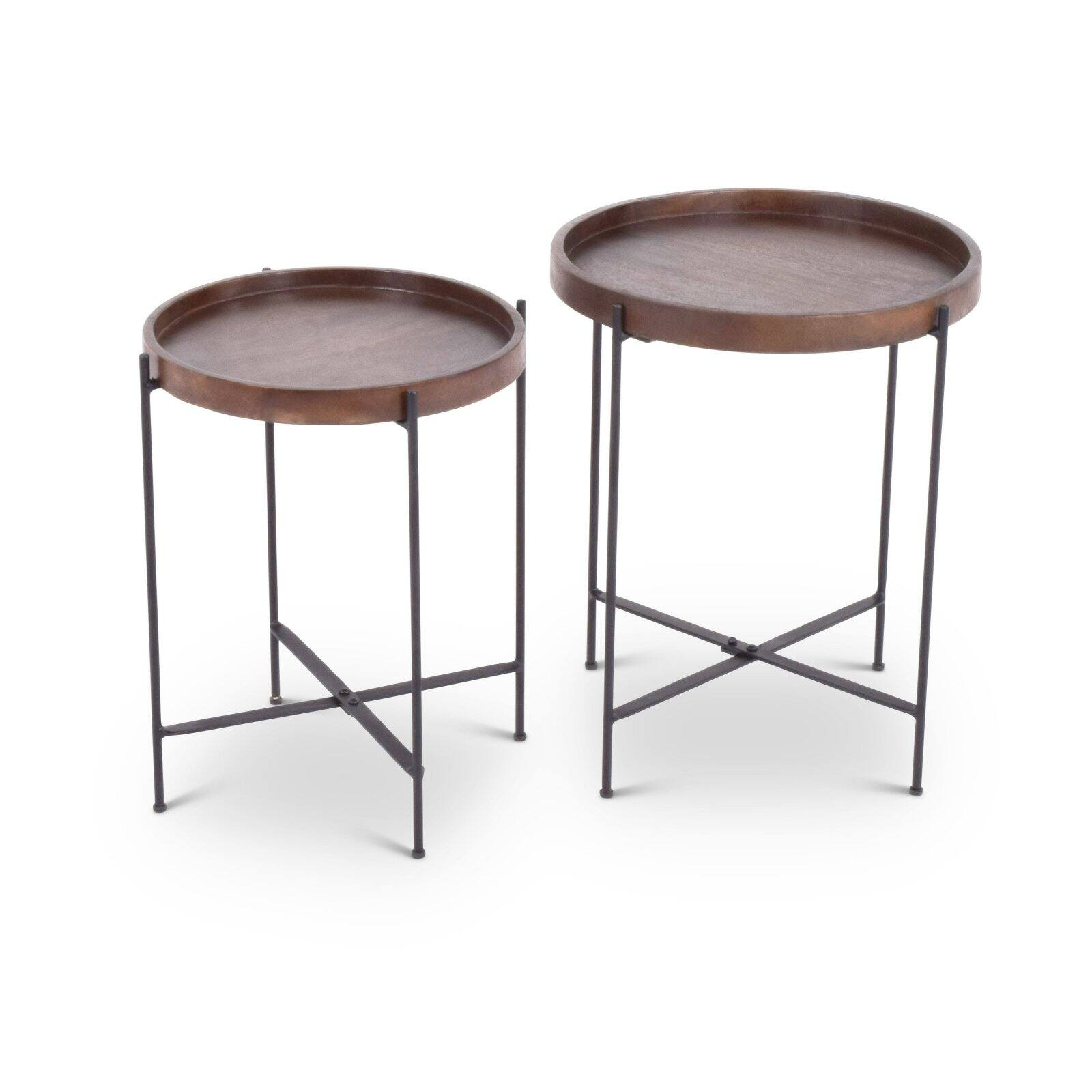 Steve Silver Co Capri Round Accent Tables Set Of 2 Walmart Com Walmart Com