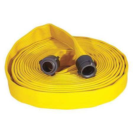 ARMORED TEXTILES G56H15FX450N Attack Line Fire Hose,Yellow,50 ft. L