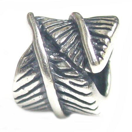 Queenberry Sterling Silver Angel Feather European Style Bead Charm Fits Pandora