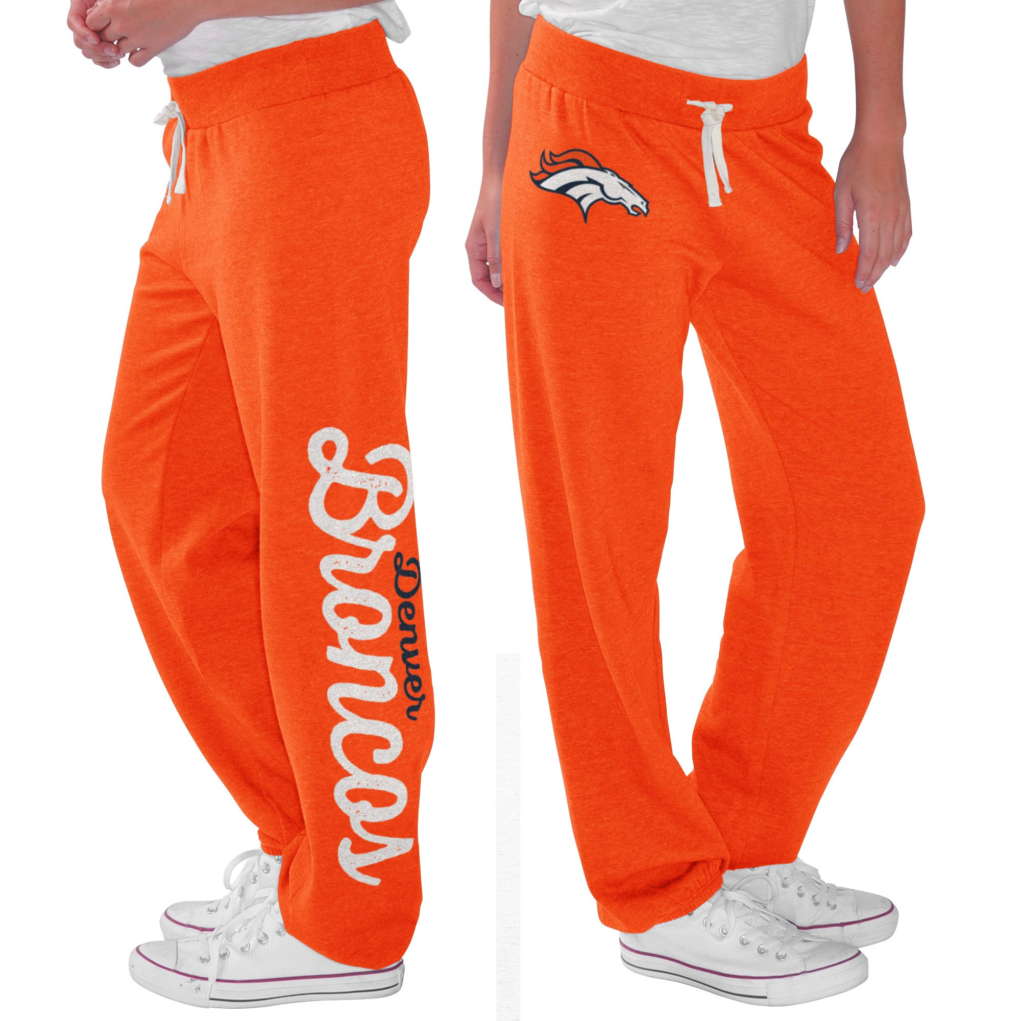 Denver Broncos G-III 4Her by Carl Banks Women's Scrimmage Fleece Pants - Orange